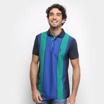 Camisa Polo Aleatory Fio Tinto Listras Verticais Masculina -