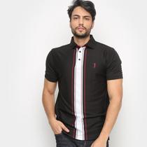 Camisa Polo Aleatory Listra Botões Masculina -