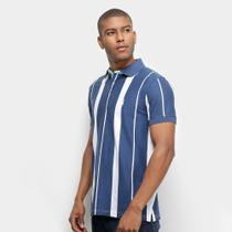 Camisa Polo Aleatory Listrada Fio Tinto Masculina -