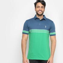 Camisa Polo Aleatory Listrada Fio Tinto Masculino -