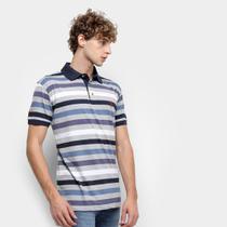 Camisa Polo Aleatory Listrada Masculina -