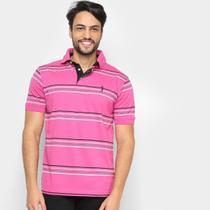 Camisa Polo Aleatory Listras Masculina -