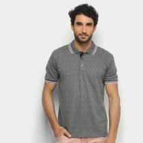 Camisa Polo Broken Rules Mini Print Frisos Masculina -