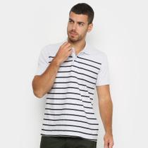 Camisa Polo Burn Listrada Masculina -