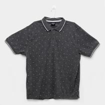 Camisa Polo Delkor Estampada Plus Size Masculina -