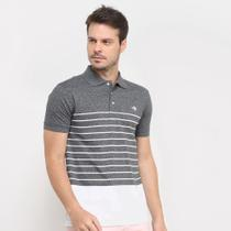 Camisa Polo Gajang Bicolor Listras Masculina -