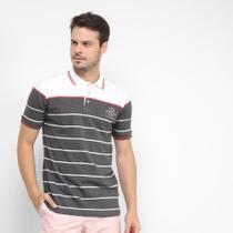 Camisa Polo Gajang Listras Botões Masculina -