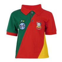 Camisa Polo Infantil Escudo Grêmio Torcida Cores Gaúcha -