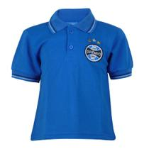 Camisa Polo Infantil Manga Curta Grêmio Torcida Tricolor -