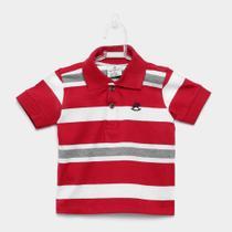 Camisa Polo Infantil Up Baby Listrada Masculina -