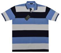 Camisa Polo Masc. Manga Curta Listrada Plus Size- PLG-27878 - Giorgio Bianco