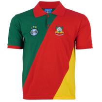 Camisa Polo Masculina Grêmio Tricolor Manga Curta Torcedor -