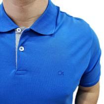 Camisa Polo Ogochi Básica Plus Size Azul 007000013 -