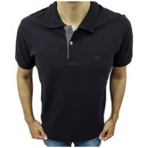 Camisa Polo Ogochi Básica Plus Size Preto -