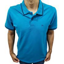 Camisa Polo Ogochi  Slim Azul Friso 0074470017008 -