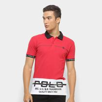 Camisa Polo Polo RG 518 Estampada Masculina -