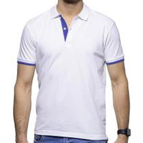 Camisa Polo Richards Branca com Detalhe