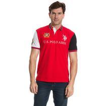 Camisa Polo U.S. Polo Patch Exclusive Vermelho - Uspa
