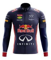 Camisa Red Bull Manga Longa Ziper Ciclismo Esportes Dry Fit  Mtb - Decole