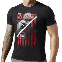 Camisa Reebok Cain Velasquez UFC Black Fighter Masculina -