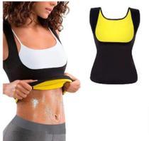 Camisa Regata Camiseta Térmica Cinta Modeladora Redutor de Medidas Sauna Feminina -