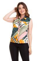 Camisa Regata Estampa Geométrica - Kinara
