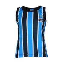 Camisa Regata Grêmio FC Infantil Listrada Time Dia a Dia -