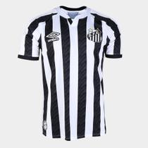 Camisa Santos II 20/21 Masculina - Branco+Preto - Dass
