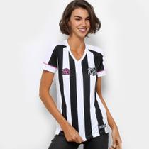 Camisa Santos II 2018 s/n Torcedor Feminina Branco e Preto - G - Dass