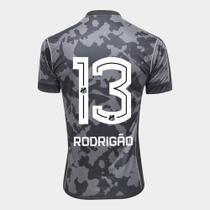 Camisa Santos III 17/18 N 13 Rodrigão Torcedor Kappa Masculina -