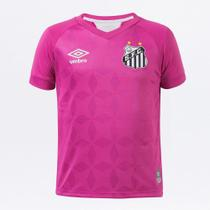 Camisa Santos Infantil Outubro Rosa 20/21 s/n Torcedor Umbro -