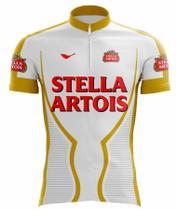 e16461f60 Camisa scape stella artois ciclismo branca e amarela -