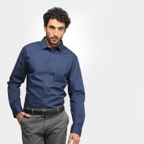 Camisa Slim Manga Longa Colcci Básica Masculina -