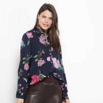 Camisa Social Facinelli Floral Feminina -