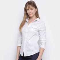 Camisa Social HCM Estampada Manga Longa Feminina - Hcm