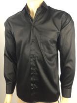 Camisa social masculina preta N6 - Alex