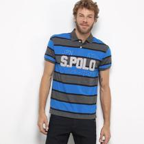 Camisa Super Polo Listras Masculina -