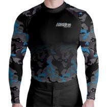 Camisa Térmica Segunda Pele Camuflado Azul Atletica - Atlética Esportes