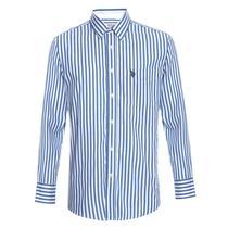 Camisa U.S. Polo Assn. Listrada Air Azul Marinho - Uspa