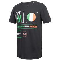 Camisa Ufc Conor Mc Gregor Irlanda Reebok Preta -