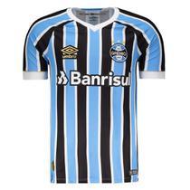 Camisa Umbro Masculina Grêmio Oficial 1 2018 (FAN PAT Nº 7) -