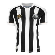Camisa Umbro Santos Oficial II 2018 (Game) Masculina - Branco e Preto -