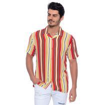 Camisa Viscose Listrada - Emporio Alex