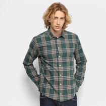 Camisa Xadrez Colcci Manga Longa Slim Masculina -
