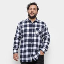 Camisa Xadrez Delkor Plus Size Masculina -