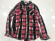 Camisa Xadrez Feminina Com Botões Bolsos Viscose - Seven