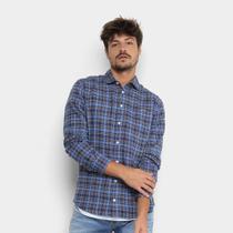 Camisa Xadrez Manga Longa Colcci Slim Masculina -