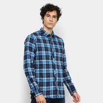 Camisa Xadrez Manga Longa Forum Super Slim Fit Masculina -