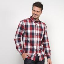 Camisa Xadrez Manga Longa John Taylor  Masculina -