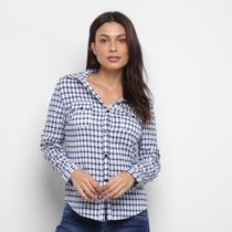camisas HCM FEMININO Camisa com Elastano Xadrez-18038 - Hcm